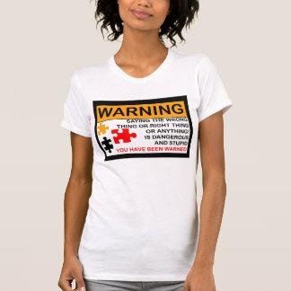 T-shirt PMS avertissant la période femelle, PMT, puzzle