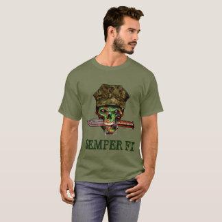 T-shirt Poignard marin de zombi, Semper fi, personnaliser,