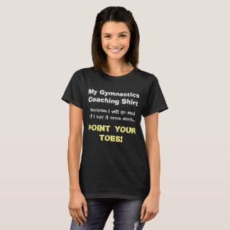 T-shirt Point de gymnastique de chemise drôle d'entraîneur