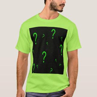 T-shirt Point d'interrogation vert au néon