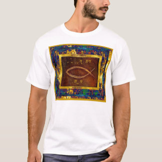T-shirt poissons chrétiens (dans l'hébreu)