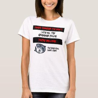 T-shirt Police de grammaire