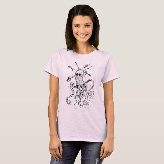 T-shirt Polpo Killer Girl Color Version.