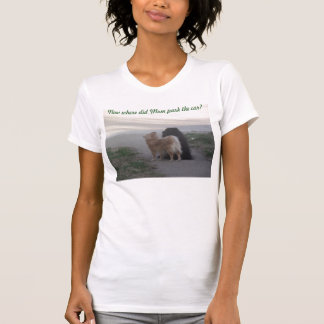 T-shirt Pomeranians recherchent la voiture de mamans