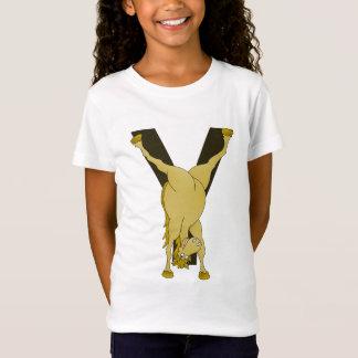 T-Shirt Poney agile du monogramme Y customisé