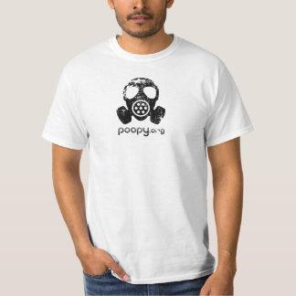 T-shirt poopy de masque de gaz