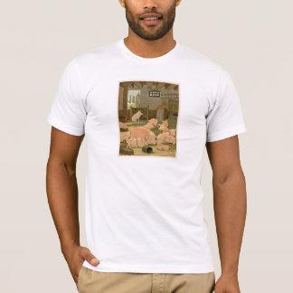 T-shirt Porcs et porcelets à la ferme