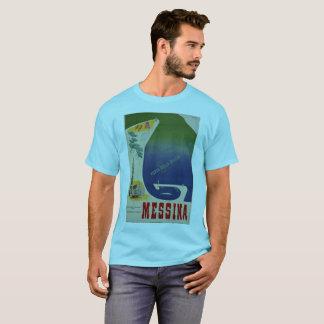 T-shirt Port de Messine d'annonce italienne vintage de