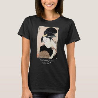 T-shirt Portrait de geisha de Shinobu Kitagawa Utamaro de