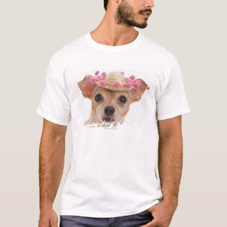 T-shirt Portrait de petit chien dans le sombrero