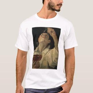 T-shirt Portrait d'un homme buvant, c.1581-4 (huile sur le