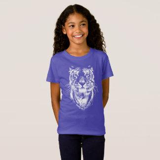T-Shirt Portrait impressionnant de tête de chat de tigre
