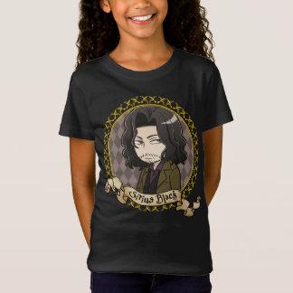 T-Shirt Portrait noir de Sirius d'Anime