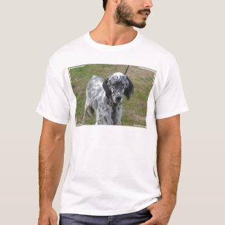 T-shirt Poseur anglais noir et blanc adorable