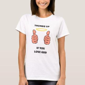 T-shirt Pouces chrétiens de chemise