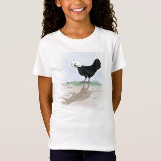 T-Shirt Poulet polonais mignon chassant un petit insecte