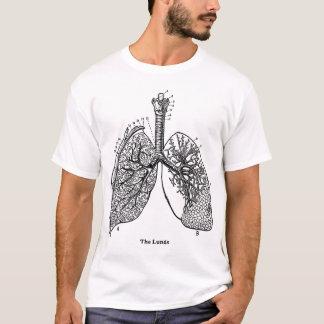 T-shirt Poumons médicaux de rétro anatomie vintage de