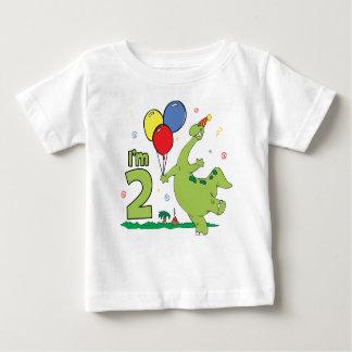 T-shirt Pour Bébé 2ème anniversaire de Dino