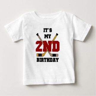 T-shirt Pour Bébé 2ème anniversaire d'hockey
