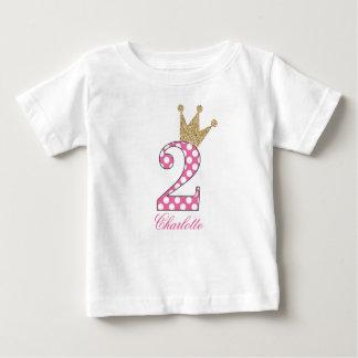T-shirt Pour Bébé 2ème Birthday|Polka Dots|Glitter-Print