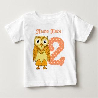 T-shirt Pour Bébé 2ème Hibou d'anniversaire
