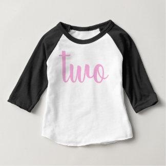 T-shirt Pour Bébé 2ème Rose d'enfant en bas âge de l'anniversaire