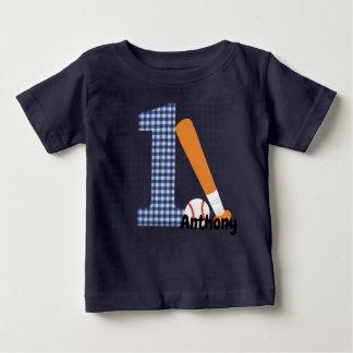T-shirt Pour Bébé Ă?re chemise personnalisée de base-ball