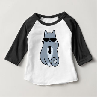 T-shirt Pour Bébé Affaire avec elle chat