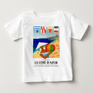 T-shirt Pour Bébé Affiche 1957 de voyage de Français de Cote d'Azur