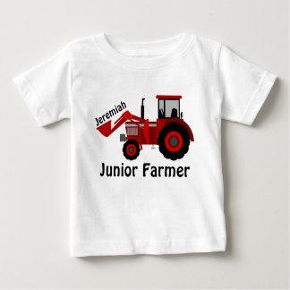 """T-shirt Pour Bébé """"Agriculteur junior"""" personnalisé et tracteur"""