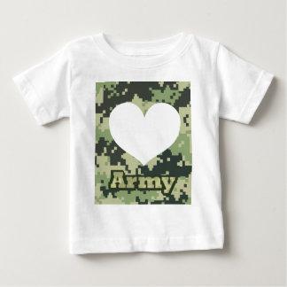 T-shirt Pour Bébé Ajoutez votre propre coeur d'armée de photo