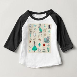 T-shirt Pour Bébé Alice au pays des merveilles