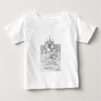 T-shirt Pour Bébé Alice au pays des merveilles par blanc noir de