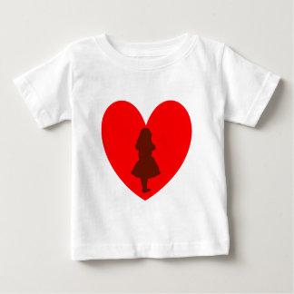 T-shirt Pour Bébé Alice dans l'amour du pays des merveilles