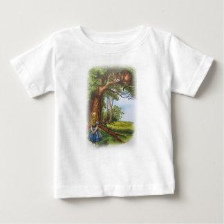 T-shirt Pour Bébé Alice et le chat de Cheshire