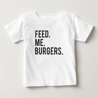 T-shirt Pour Bébé Alimentez-moi la copie d'hamburgers