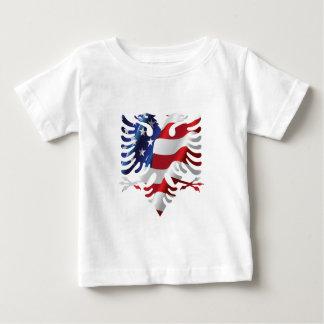 T-shirt Pour Bébé Américain albanais Eagle