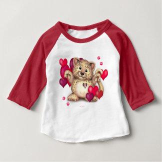 T-shirt Pour Bébé Américain de bébé d'AMOUR de LÉOPARD