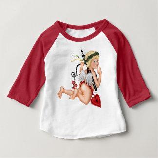 T-shirt Pour Bébé Américain de bébé de GARÇON de VALENTINE