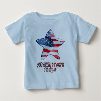 T-shirt Pour Bébé Américain Ninja - bébé