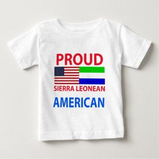 T-shirt Pour Bébé Américain Sierra-Léonais fier