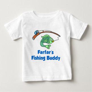 T-shirt Pour Bébé Ami de la pêche de Farfar