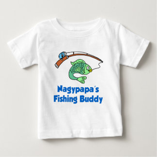 T-shirt Pour Bébé Ami de la pêche de Nagypapa