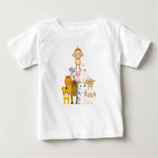 T-shirt Pour Bébé Amis animaux