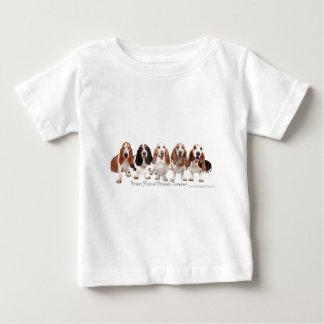 T-shirt Pour Bébé Amis de Basset Hound pour toujours