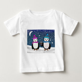 T-shirt Pour Bébé Amis de pingouin