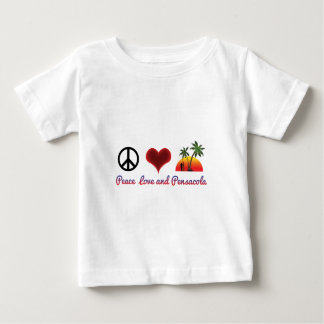 T-shirt Pour Bébé amour et pensacola de paix