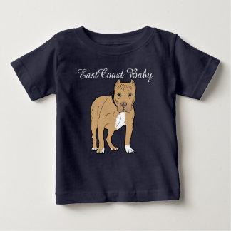 T-shirt Pour Bébé Amstaff mignon de chiot de bébé de Côte Est
