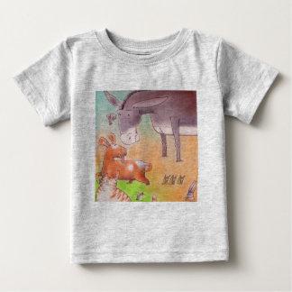 T-shirt Pour Bébé Âne et leurs amis
