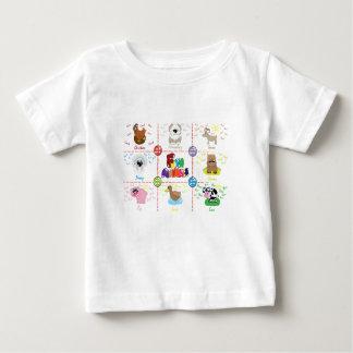T-shirt Pour Bébé Animaux de ferme